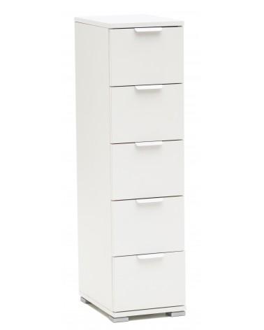 RD310 Bianco 5 cassetti