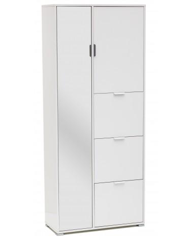RD610 Armadio laccato bianco 5 ante + specchio
