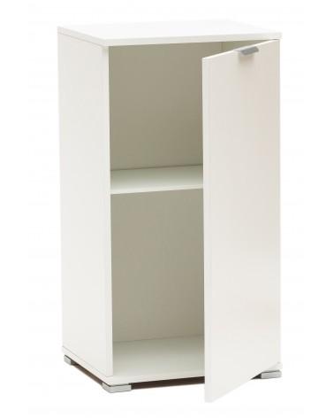 RD108 Bianco armadietto 1 anta aperto